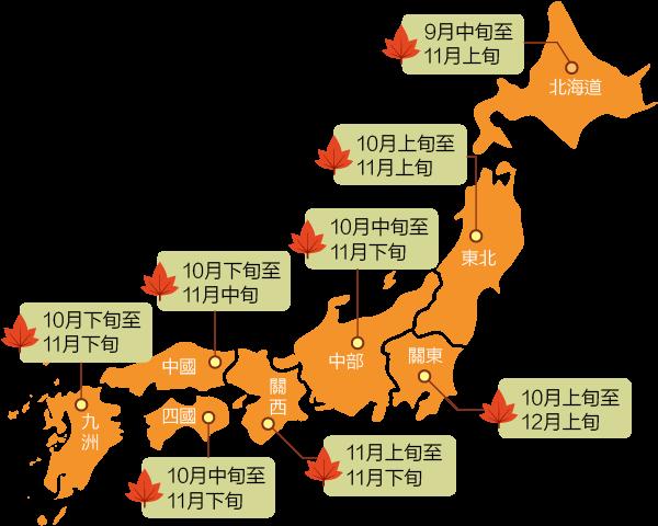 日本賞楓地圖2018